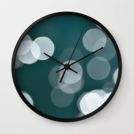 Large Ocean Bokeh Wall Clock