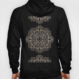 Mandala White Gold on Dark Gray Hoody