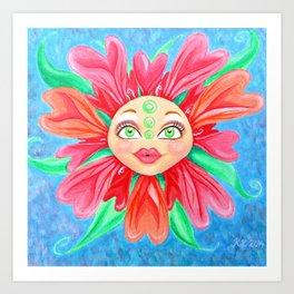 Doll Face Flower Art Print