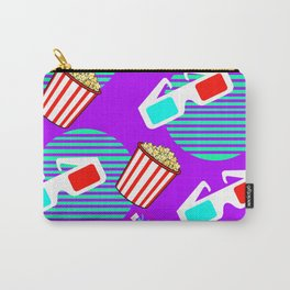 Graphic Polarized 3d Glasses Red Blue & Buttered Popcorn Synthwave Carry-All Pouch
