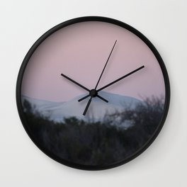 Sunset and Sand Dune Wall Clock