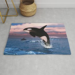 Killer whales in the Arctic Ocean Rug