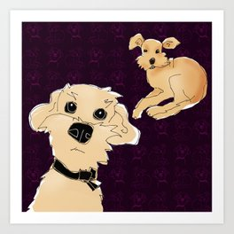 Pippin and Grendel Art Print