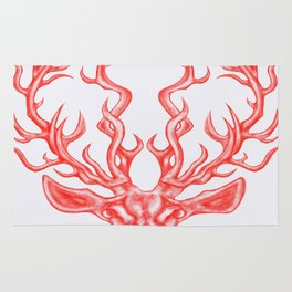 stag (white background) Rug