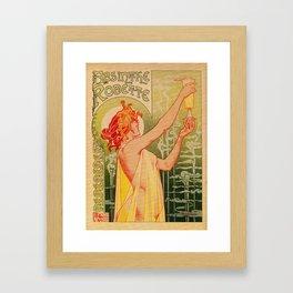 Classic French art nouveau Absinthe Robette Framed Art Print