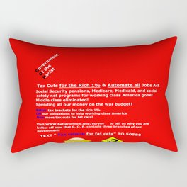 Better off Now G. O. P. Survey Rectangular Pillow