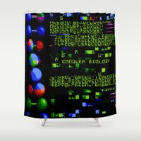 biology Shower Curtains featuring Conquer Biology by Leone Bachega