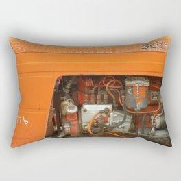 Orange Tractor Abstract Rectangular Pillow