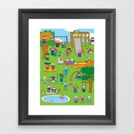 Playground  XL Framed Art Print