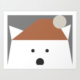 Peek-a-Boo Bear, Earthtones Art Print