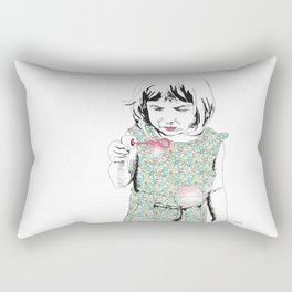 BubbleGirl Rectangular Pillow
