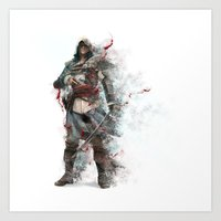 assassins creed Art Prints featuring Assassins Creed - Black Flag by alonnusenbaum