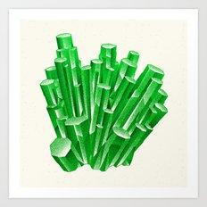 Green Formation Art Print