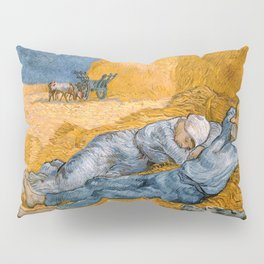 Noon - rest from work by Vincent van Gogh Pillow Sham