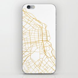 BUENOS AIRES ARGENTINA CITY STREET MAP ART iPhone Skin