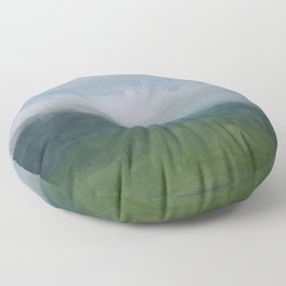 Gray Blue Navy Indigo Grass Green Abstract Painting Wall Art Prints, Nature Horizon, Modern Wall Art Floor Pillow