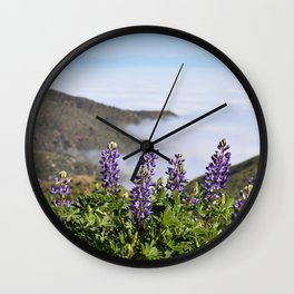 Catalina Lupines Wall Clock