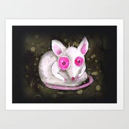 Albino rat Art Print