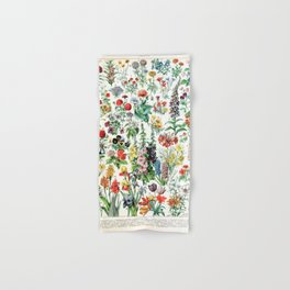 Adolphe Millot - Fleurs A - French vintage poster Hand & Bath Towel