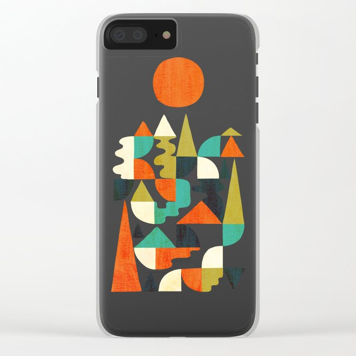 Mountains Hills and Rivers Clear iPhone Case