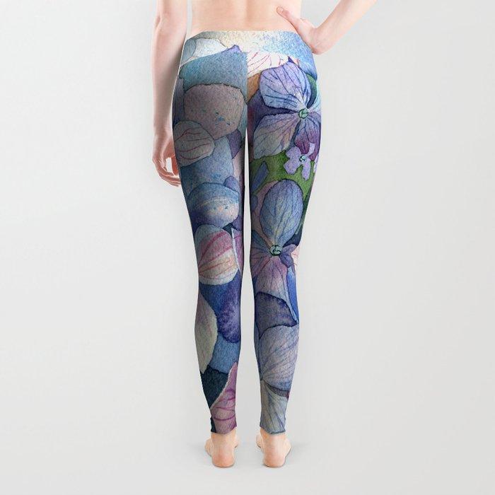 Hydrangea Leggings