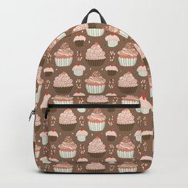 Elegant Cupcakes Food Vector Pattern Seamless Backpack