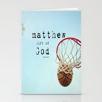 scripture Stationery Cards featuring Matthew Scripture Name Art by KimberosePhotography