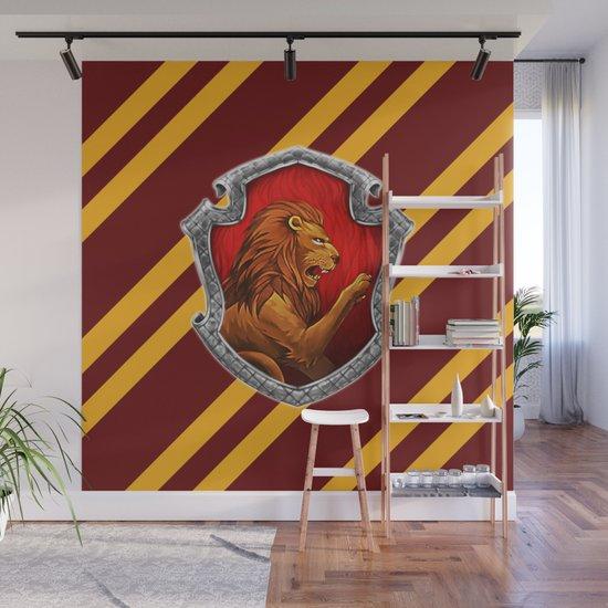 Gryffindor Hogwarts Stripes Wall Mural by adejuadi Society6