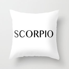 Scorpio {Astrology Zodiac Sign} Throw Pillow