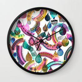 Rainbow lace - Christmas happiness drops Wall Clock