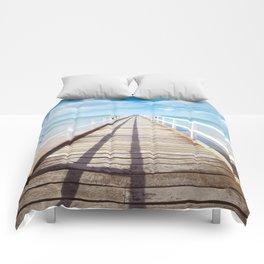 Pier sky 4 Comforters
