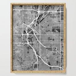 Denver Colorado Street Map Serving Tray