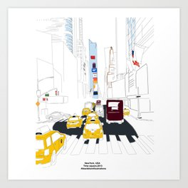 New York City illustration Art Print