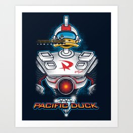 Pacific Duck Art Print