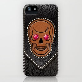 Hot Head Leather 2 iPhone Case
