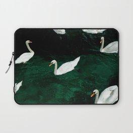 Seven Swans in Switzerland Laptop Sleeve