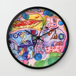 Home Sweet Coral Wall Clock