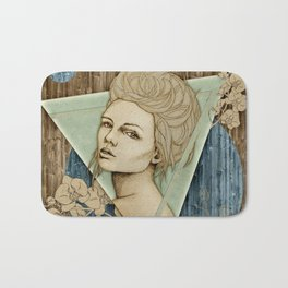 """Fleur Spring"" by carographic - Carolyn Mielke Bath Mat"