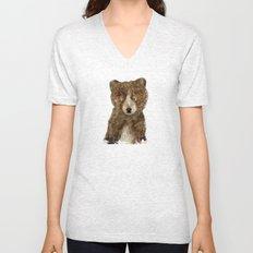 little brown bear Unisex V-Neck
