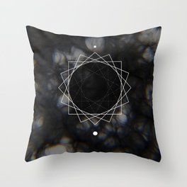 Sun Delay Geometry Throw Pillow