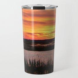 Sky Over The Marsh Travel Mug