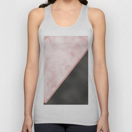 Sivec Rosa marble - black leather Unisex Tank Top