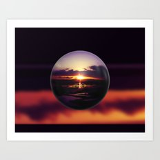 Float on the clouds like a drop of dew and bask in the light of a sunrise view Art Print