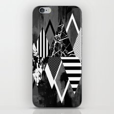 STAND OUT! In Black And White - Abstract, textured geometry! iPhone & iPod Skin