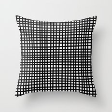 Black and White Gingham Throw Pillow