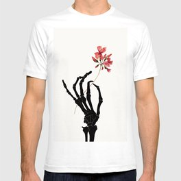 Skeleton Hand with Flower T-shirt