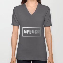 Influencer NFLNCR | Social Media Hashtag # Unisex V-Neck