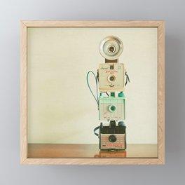 Tower of Cameras Framed Mini Art Print