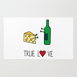 Cheese Love Wine Art Print Home Decor Kitchen Living Room Interior Printing for Wall Fun Graphic  Rug