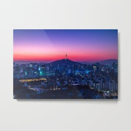 Twilight Seoul Metal Print